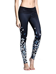 Yoga Pants Tights Leggings Bottoms Fitness, Running & Yoga Quick Dry Breathable smooth Comfortable Stretch Sweat-wicking Training Natural