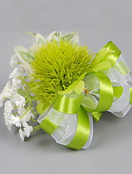 Wedding Flowers Free-form Peonies Boutonnieres Wedding Party/ Evening Green Satin