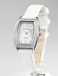 Women's Fashion Watch Quartz Leather Band White Red White Red