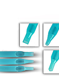 Solong Tattoos 500 Disposable Plastic Tattoo Tips Tube Blue Color Assorted Mixed TP302-500