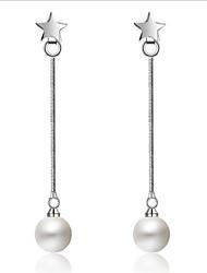 S925 Silver Star Pearl Ear Line