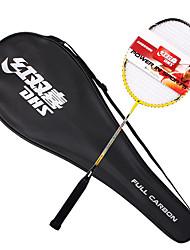 Badmintonschläger 50.0*20.0*5.0 Unverformbar Hochelastisch Dauerhaft Leichtes Gewicht für Draußen Training Legere Sport Kohlefaser DHS®