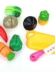 Conjuntos Toy Cozinha Toy Foods Brinquedos Plástico Crianças 5 a 7 Anos 8 a 13 Anos