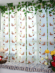 One Panel Curtain Neoclassical European Designer Living Room Polyester Material Sheer Curtains Shades Home Decoration For Window