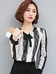2017 spring new Korean women jacket temperament Slim hedging lace shirt