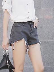 Real Shot Nett ~ coréen sauvage dénudé denim shorts haute taille large perle burr femme nett!
