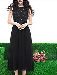 в Соединенных Штатах феи весной и летом новый пригородный шифон платье вышиты марлевый специальный тройник