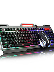 USB Multi Color Backlit Gaming Micro Denifition 1200-1600-2400-3200 Mouse Gaming Ergonomic keyboard Mouse Kit
