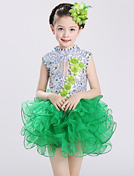 Shall We Ballet Dresses Kid Spandex Tulle Rhinestones 2 Pieces Dance Costume