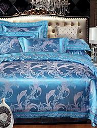 Set of 4 Pieces Cotton Bedding Quilt 220*240 Bed Linen 250*270 Pillowcase 48*74