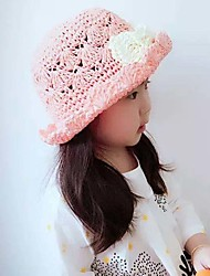 Girl's Lovely Fashionable Elegant Edge Flanging Bowknot Baby Hat Shading Bask In A Straw Hat
