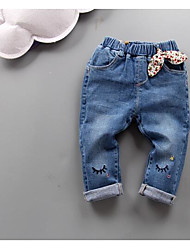 Girls' Casual/Daily Solid Jeans Summer Spring