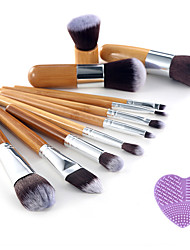 1Pcs Cleaning Tools And 11Pcs Beauty Makeup Brushes  Set Kit Premium Synthetic Kabuki Cosmetic Blending Blush Eyeshadow Concealer
