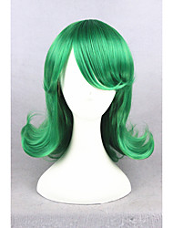 Short Curly One Punch Man Tatsumaki Synthetic Green 14inch Anime Party Cosplay Wig CS-275A