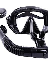 Kits para Snorkeling Mergulho e Snorkeling Borracha Vidro Silicone Preta-WHALE