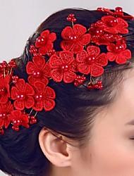 Perla Artificial Celada-Boda Ocasión especial Flores Palillo del pelo 1 Pieza