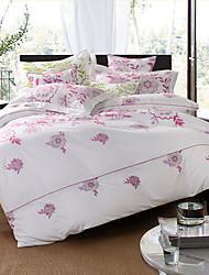 Turqua SUN FLOWER Pink 100% Cotton Classic Bedding Set Duvet Cover Set 4pcs Including Comforter Case Pillowcase Flat Sheet