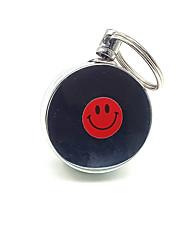Circular Porta-Chaves Prateada Metal