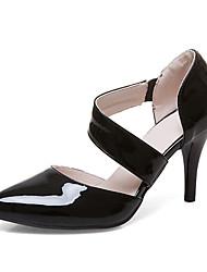Feminino-Saltos-Sapatos clube Sapatos formais-Salto Agulha-Branco Preto Vermelho-Courino-Social Festas & Noite