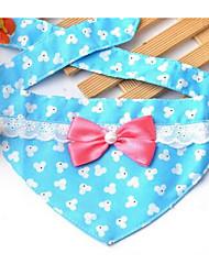 Cães Bandanas e Chapéus Roupas para Cães Primavera/Outono Bolinhas Fofo Roxo Café Azul Rosa claro