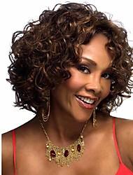 Afro фигурных парик коротких париков обеспечение качества синтетические волосы для африканских черных женщин