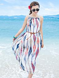 signe robe en mousseline de soie robe de harnais bohème version coréenne était mince plage de la station balnéaire de jupe