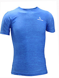 Men's Short Sleeve Running T-shirt Tracksuit TopsBreathable Quick Dry Anatomic Design Ultraviolet Resistant Moisture Permeability