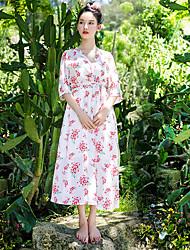 Literary Japanese black dress female retro V-neck chiffon dress was thin