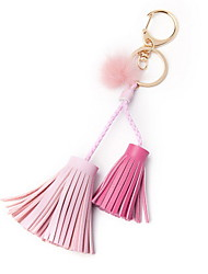 Key Chain Key Chain Violet White Green Pink Yellow Orange Leather