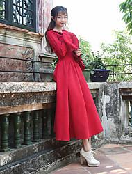 2017 nouveau printemps mince mince velours en velours côtelé gilet manches robe littéraire rétro grosse jupe