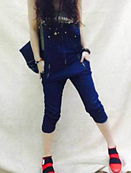 Europe station summer new fashion denim overalls
