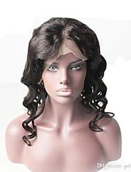 Top Grade Peruvian Virgin Hair Lace Front Wig Loose Wave Natural Black Color Hair 100% Virgin Human Hair Lace Wig For Black Woman