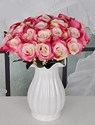 1 Une succursale Plastique Roses Fleur de Table Fleurs artificielles 30*30*40