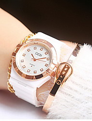 Women's Fashion Watch Japanese Quartz Water Resistant / Water Proof Alloy Band Cool Casual Unique Creative White Gold/White