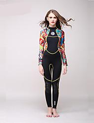 HISEA® Dámské 3mm Zahřívací Rychleschnoucí Proti záření Ter Emen Bavlna Diving Suit Dlouhé rukávy Potápěčské obleky-PotápěníJaro Léto