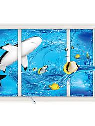 Sea Shark 3D Sitting Room The Bedroom Decorates A Wall Post