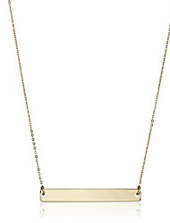 Tiny Sparkle Gold Bar Drop Pendant Necklaces Lariat Y Necklaces JewelryWedding Party