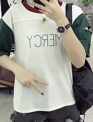 Sign CVC Lycra Cotton New Color-hole sleeve t-shirt women