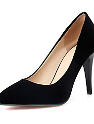 Women's Heels Club Shoes Fleece Spring Summer Fall Office & Career Dress Party & Evening Club Shoes Stiletto Heel Black Ruby 3in-3 3/4in