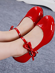 Fille-Extérieure Décontracté-Argent Rouge Rose-Talon Bas-Flower Girl Chaussures-Chaussures Bateau-Polyuréthane