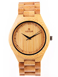 Men's Wrist watch Casual Watch Wood Watch Japanese Quartz Japanese Quartz Wooden Wood Band Cool Yellow