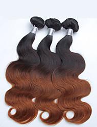 3 шт / много Ombre теле волны оптовой перуанской волос, сырые необработанные девственной перуанских волос