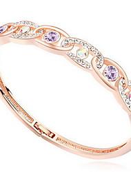 Mulheres Bracelete Jóias Amizade Moda Cristal Liga Forma Geométrica Branco Roxo Azul Rosa claro Jóias Para Aniversário 1peça