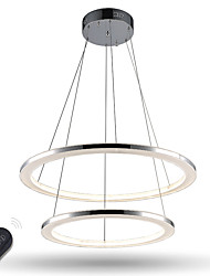 Dimmable Modern LED  Acrylic Pendant Lights  2 ring Ceiling Chandeliers Lighting for Living Room with Remote Control