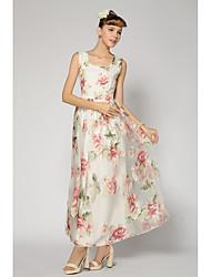 New spring Xiaou organza dress commuter ladies gauze dress white dress