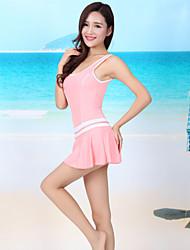 Women's Holiday Cute Loose Dress,Solid Round Neck Mini Sleeveless Nylon Summer Low Rise Micro-elastic Thin