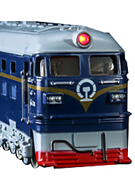Train Pull Back Vehicles Car Toys 1:10 Metal Plastic Blue