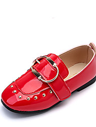Girls' Loafers & Slip-Ons Spring Summer Light Soles PU Wedding Party & Evening Dress Casual Flat Heel Beading Buckle