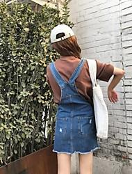 знак # новой джинсовый ремень юбка корейской волна женской сиамской юбка половины длина платье был тонкие заусенцами