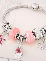 Charm Bracelet Alloy Rhinestone Star Teardrop Fashion Women's Jewelry 1pc